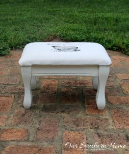 French Country Stool Makeover