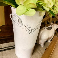 Galvanized Metal Vase Makeover
