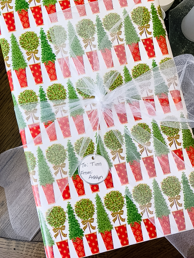 wrapped gift for Christmas