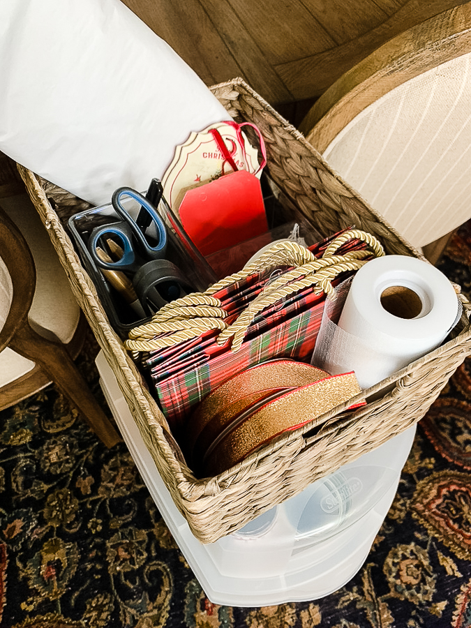 gift wrap organized