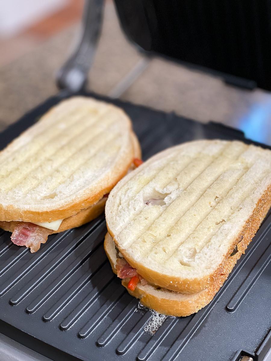 sandwich on panini press