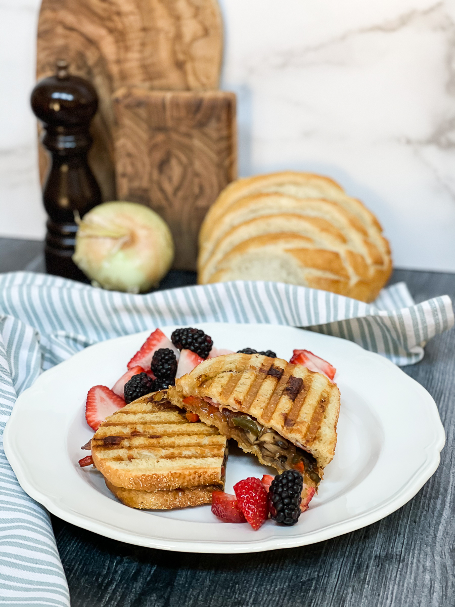 grilled cheese with fruit