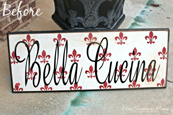 hand painted garden sign by our southern home 1