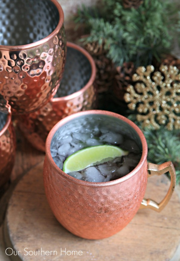 Holiday Moscow Mule cocktail recipe by Our Southern Home