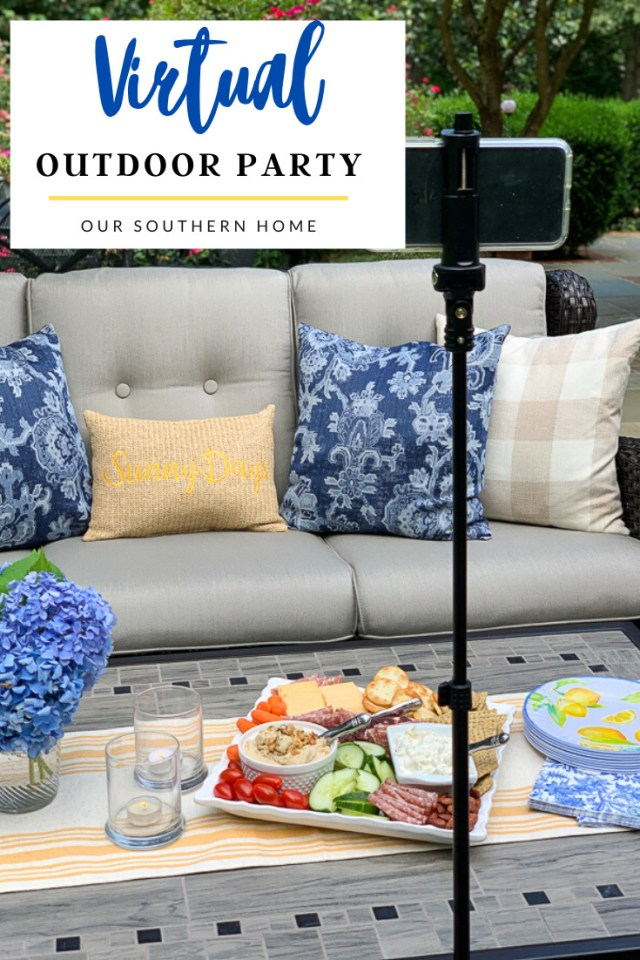 hosting a virtual outdoor party