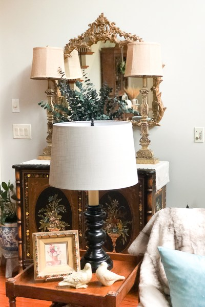 Iron Look Lamp Makeover