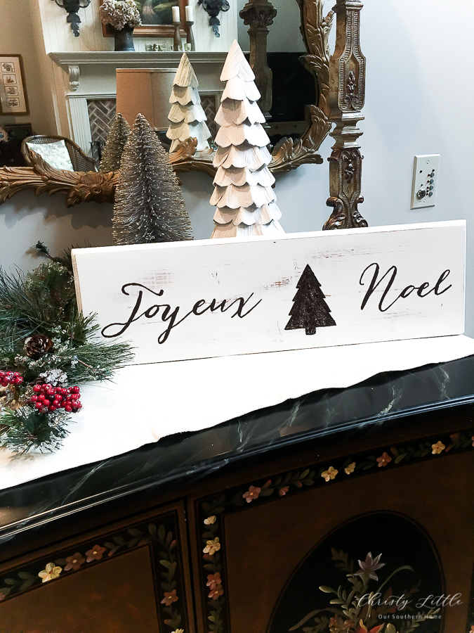 Www Joyeux Noel.Diy Joyeux Noel Sign Our Southern Home