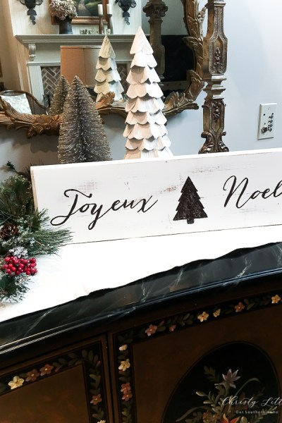 DIY Joyeux Noel Sign