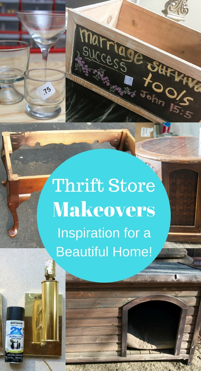 Thrift store crate makeover becomes a stylish container for the home!