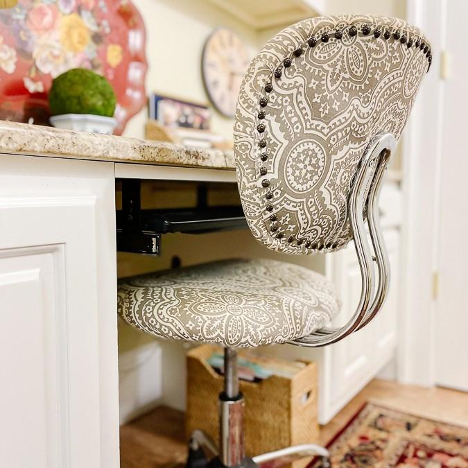 desk chair details