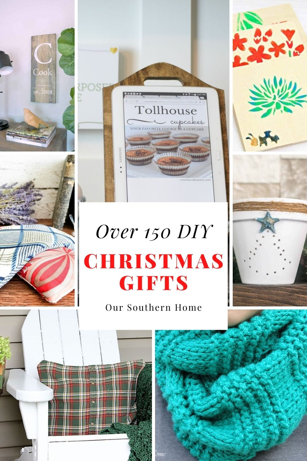 thrifty gift ideas collage