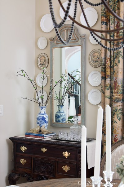 mirror with home decor