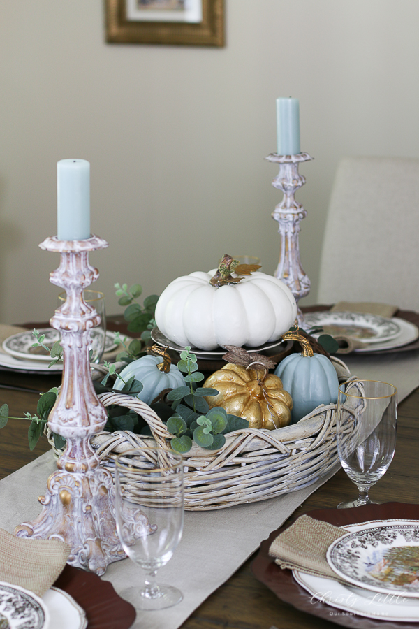 tablescape with china