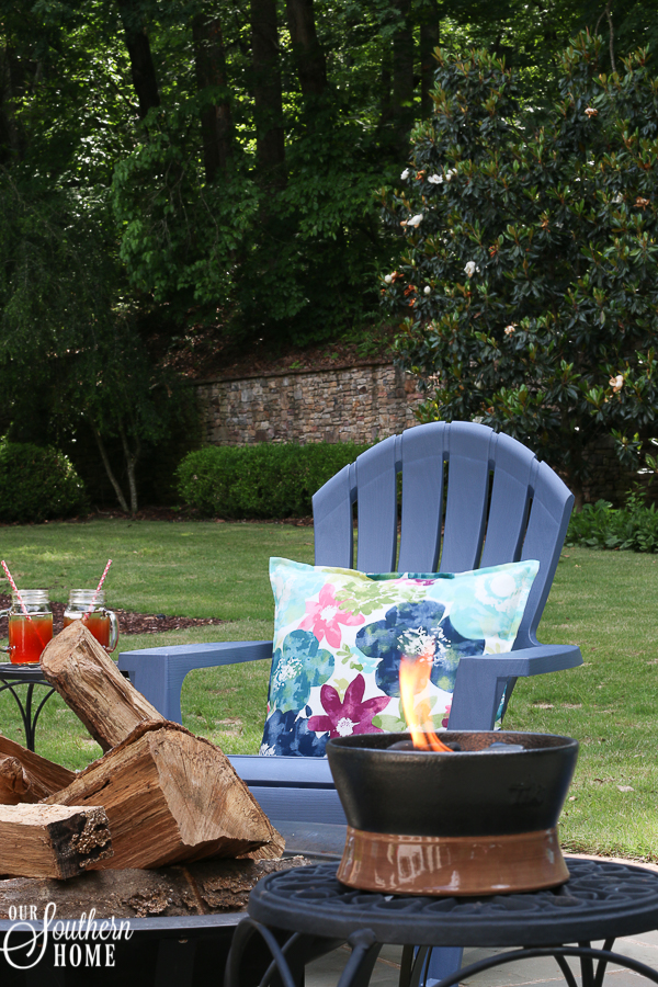 Patio Fire Pit Refresh Just In Time For Fatheru0027s Day! #ad #TrueValue