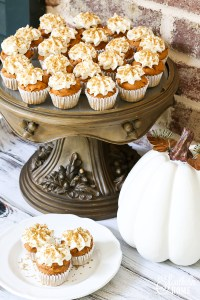Semi-Homemade Mini Pumpkin Spice Cupcakes