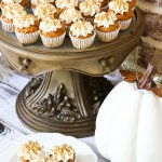 Semi-homemade mini PUMPKIN SPICE cupcakes are so easy when you start with a boxed cake mix!