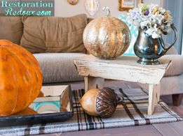 SImple DIY ideas with faux pumpkins