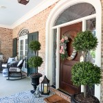 front porch decorated with blues