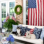 patriotic porch