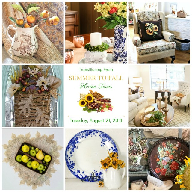 collage of fall decor