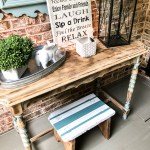 Thrift store stool makeover with a fun stripe pattern! #stripe #stoolmakeover #painted