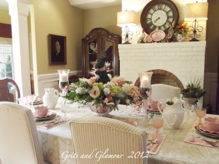 Spring Tablescape in Paisley and Pink - The Everyday Home - www.everydayhomeblog.com