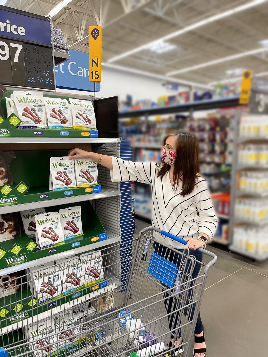 woman shopping in Walmart