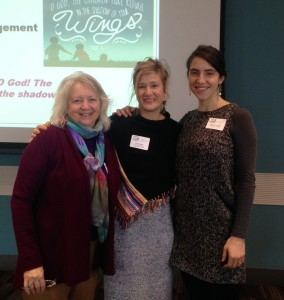 Barbra Graber, Rachel Halder, and Hilary Jerome Scarsella at the Dove's Nest conference in November 2014.
