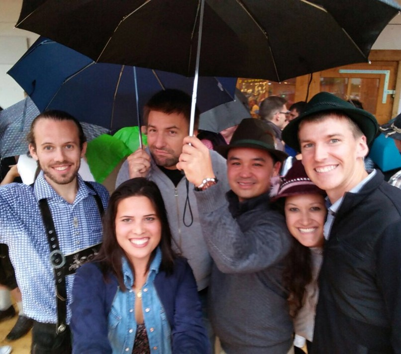 Our new friends in Oktoberfest!