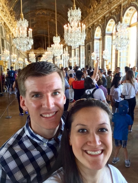 enjoying the Hall of Mirrors