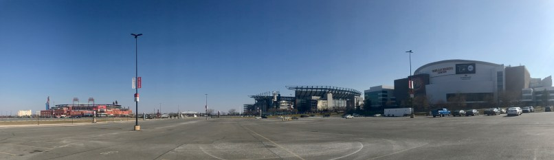panorama of all three sports stadiums
