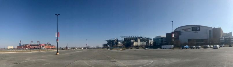 panorama of all three sports stadiums