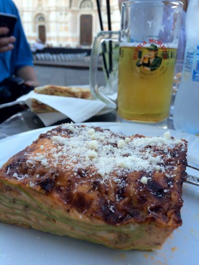 Lasagna verdi alla bolognese is the perfect meal during a layover in Bologna