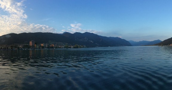 Panoramic of Lake Iseo, Italy