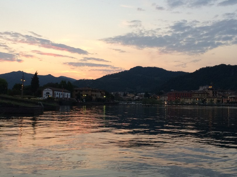 Sunset at Lake Iseo, Italy