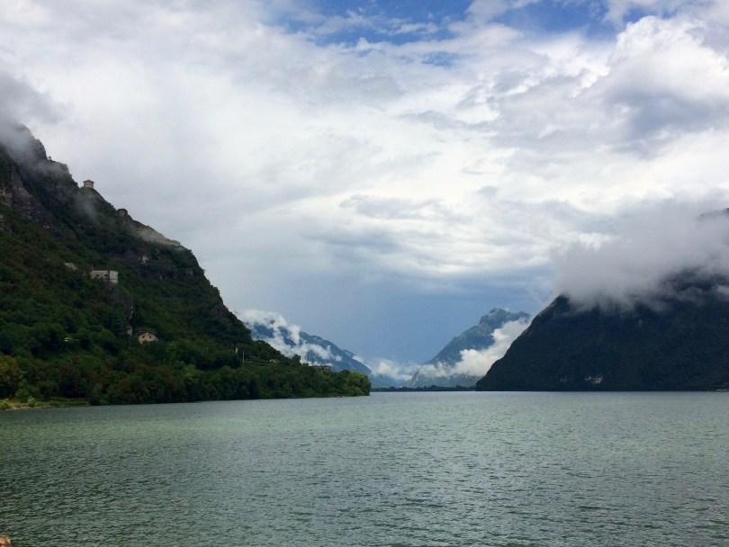 Beautiful views of Lake Idro, Italy