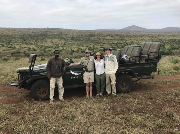 with our ranger, Brenden and our tracker, Bethuel