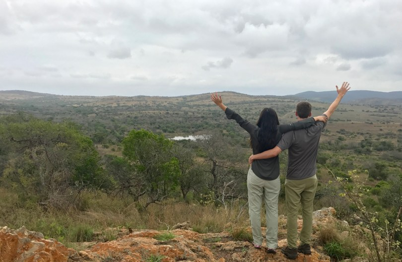 Enjoying the beautiful views at Phinda Private Game Reserve