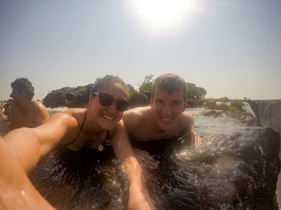 Living life on the edge at Victoria Falls Devil's Pool