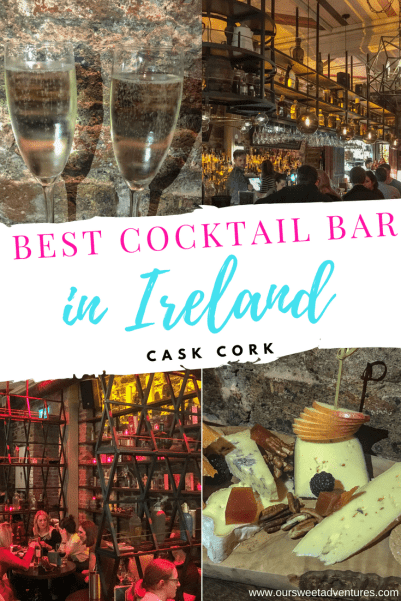 Ireland is known for their traditional pubs, but they have an amazing cocktail bar too! Cask Cork is part of a beautiful boutique hotel, Hotel Isaacs Cork. This is an award winning bar that not only serves the best cocktails, but teaches cocktail classes too! #CocktailBar #Ireland #Bar #Cork