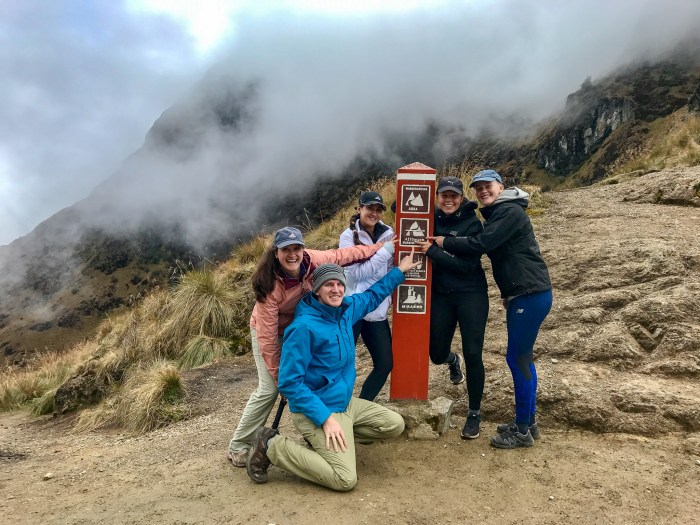 Surviving Dead Women's Pass hiking the Inca trail