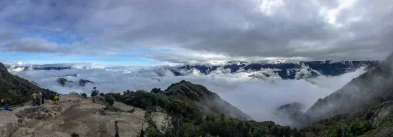 Weather on the Inca trail can be stunningly beautiful