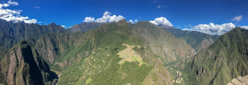 Stunning view of Machu Picchu from Huayna Picchu