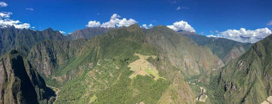 Stunning view of Machu Picchu from Huayna Picchu