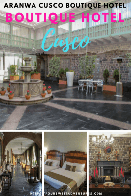 Aranwa Cusco Boutique Hotel is one of the best boutique hotels in Cusco. It is also a five star museum hotel built in a colonial mansion from the 16th century in the heart of Cusco. The beautiful hotel has spectacular views, delicious dining options, exceptional service and luxurious accommodations. You cannot go wrong booking this hotel! #Cusco #Peru #BoutiqueHotel #Hotel