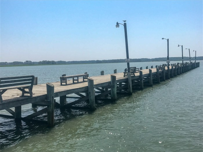 A beautiful pier at Tom's Cover Campground in Chincoteague