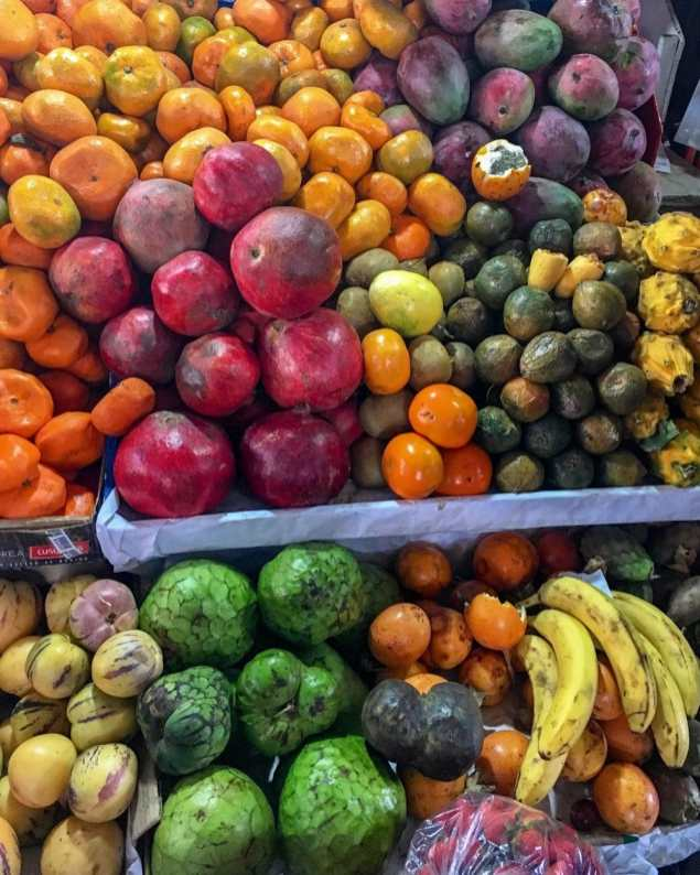 During our cooking class in Cusco we went to San Pedro Market and learned about all of the different types of Peruvian fruit.
