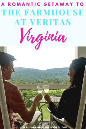 We could not have asked for a more perfect romantic getaway than the Farmhouse at Veritas. It has amazing house wines, delicious dinner and breakfast, exceptional service and cozy accommodations. The Farmhouse at Veritas in Charlottesville, Virginia truly has it all.