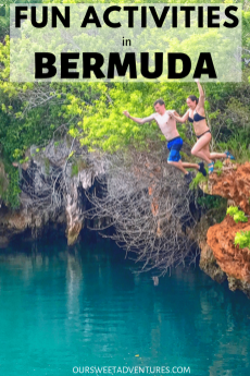 There are so many fun activities in Bermuda. Our favorite were cliff jumping at Blue Hole Park, discovering underground caves, driving a scooter, snorkeling and more.