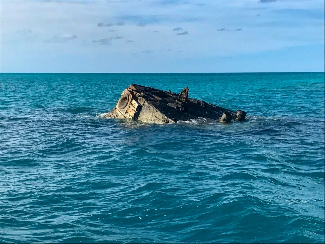 We took a boat tour to see the famous Vixen shipwreck in Bermuda.